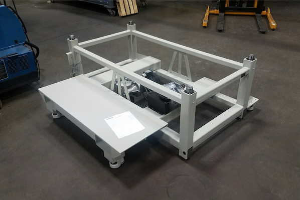 ErgoBase custom project with steel shelf  600 x 400