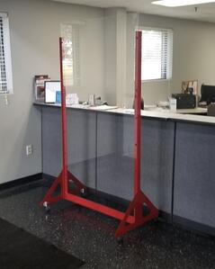 office reception counter